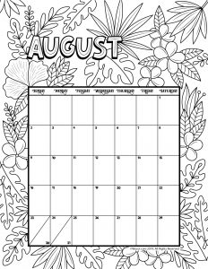 August Coloring Pages Preschoolers Free, Adults,printable,15 August | 300x232