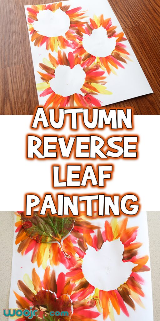 Autumn Reverse Leaf Painting