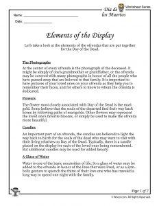 Dia de los Muertos Ofrenda Display Part 1