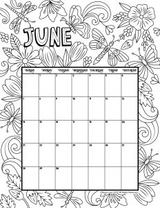 Months of the Year Tracing and Coloring Pages | Coloring pages ... | 300x232