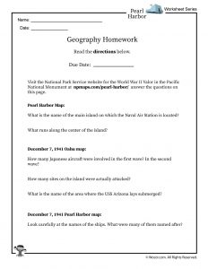 Pearl Harbor Geography Worksheet