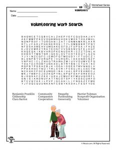 Volunteering for Kids Word Search