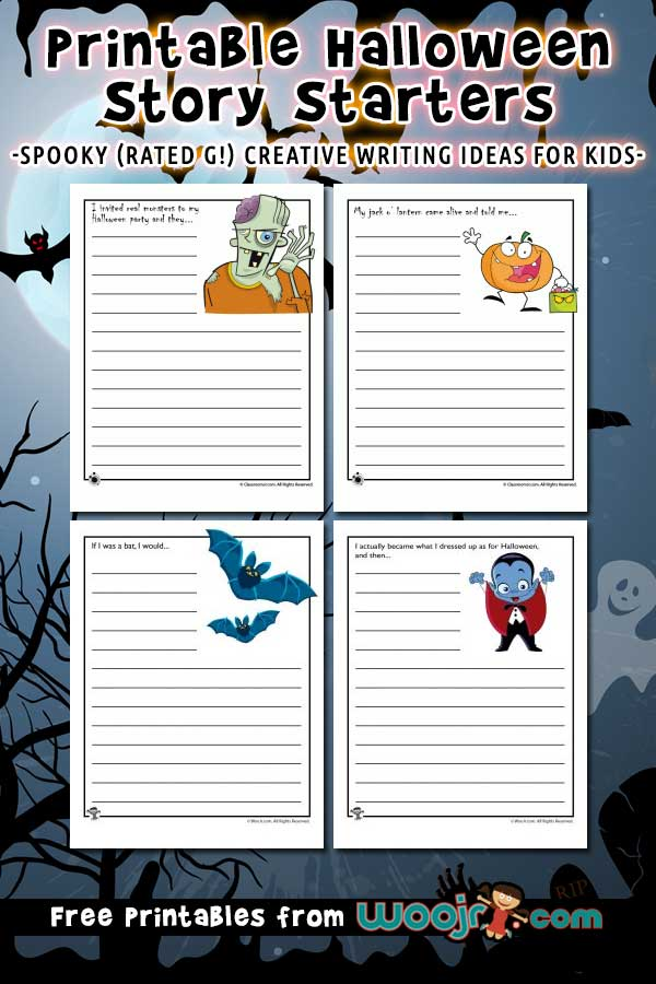 Printable Halloween Story Starters for Kids | Woo! Jr  Kids