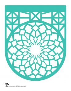 Papel Picado Banner Turquoise