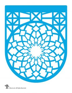 Papel Picado Banner Blue
