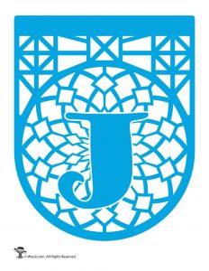 Papel Picado Letter J