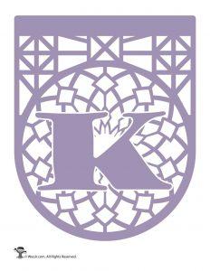 Papel Picado Letter K
