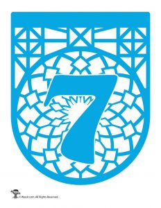 Papel Picado Numbers - 7