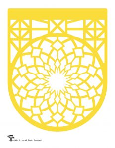 Papel Picado Banner Yellow