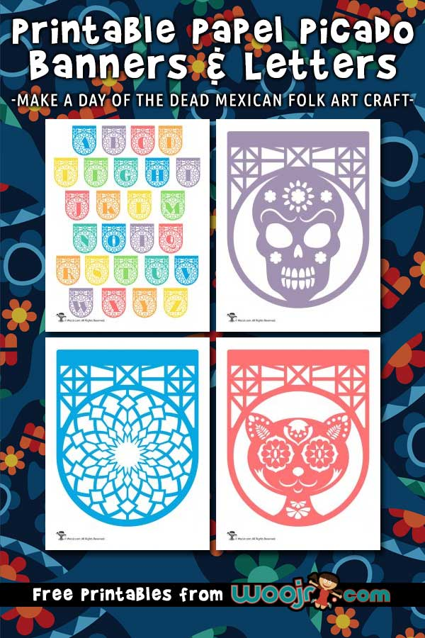 Printable Papel Picado Letters And Banners Woo Jr Kids Activities
