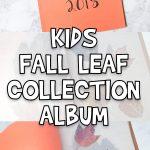 DIY Fall Leaf Collection Album