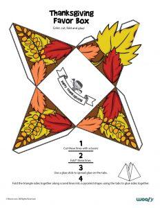 Fall Leaves Favor Box