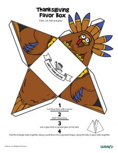 Thanksgiving Turkey Favor Box