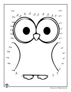 Fall Owl Connect the Dots Printable