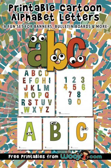 Printable Cartoon Letters
