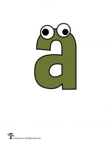 Lowercase Cartoon Letter a