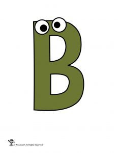 Cartoon Letter B