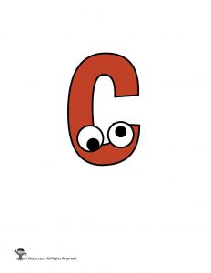 Lowercase Cartoon Letter c