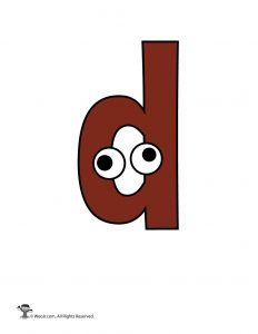 Lowercase Cartoon Letter d
