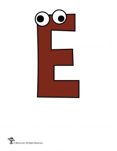 Cartoon Letter E