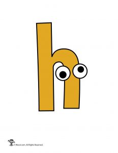 Lowercase Cartoon Letter h