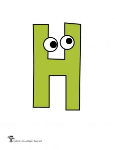 Cartoon Letter H