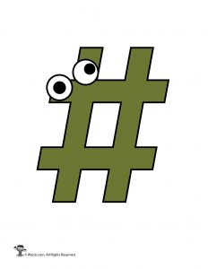 Cartoon # Pound Sign / Hashtag