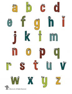 Lowercase Cartoon Letters Set