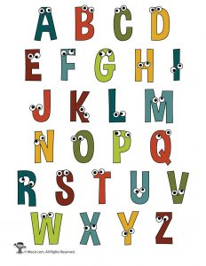 Printable Cartoon Letters Alphabet Set