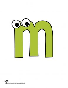 Lowercase Cartoon Letter m