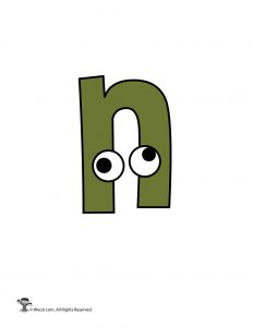 Lowercase Cartoon Letter n