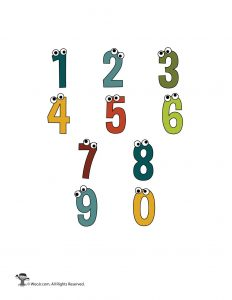 Cartoon Numbers 0-9