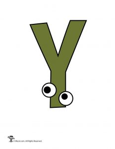 Cartoon Letter Y