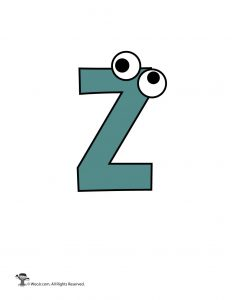 Lowercase Cartoon Letter z