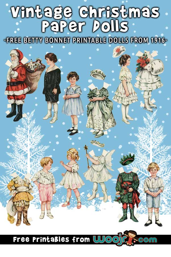 Vintage Christmas Paper Dolls