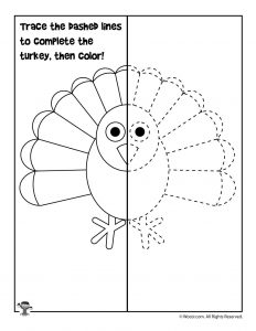Draw the Turkey Activity Sheet