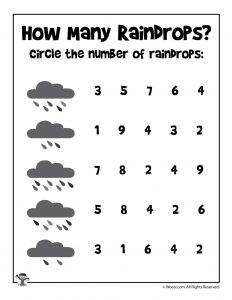 Beginner Number Recognition Worksheet