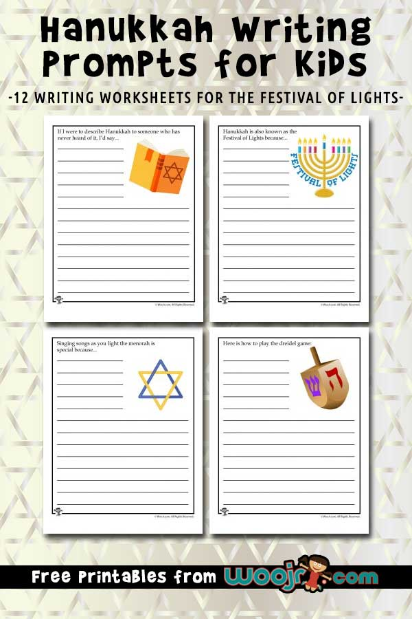 photo about How to Play the Dreidel Game Printable called Hanukkah Composing Prompts for Youngsters Woo! Jr. Small children Things to do