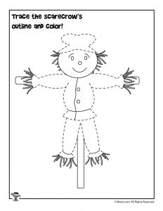 Trace the Scarecrow Worksheet