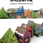 Printable Advent Calendar: 25 Days Christmas Village Papercraft