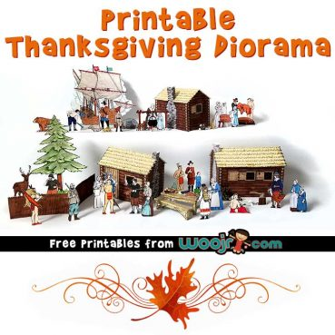 image regarding Printable Diorama referred to as Printable Thanksgiving Diorama Woo! Jr. Little ones Actions