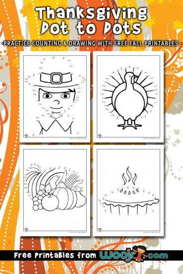 Thanksgiving Dot to Dots Printable Pages
