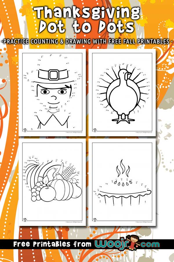 Thanksgiving Dot to Dots Printables