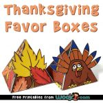 Thanksgiving Favor Boxes Free Printable