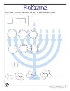 Visual Pattern Prediction Worksheet for 3rd Grade