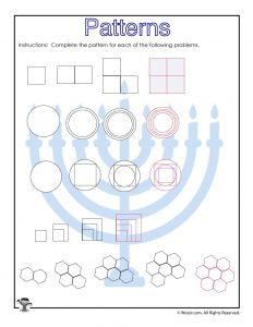 Visual Pattern Prediction Worksheet for 3rd Grade - ANSWER KEY