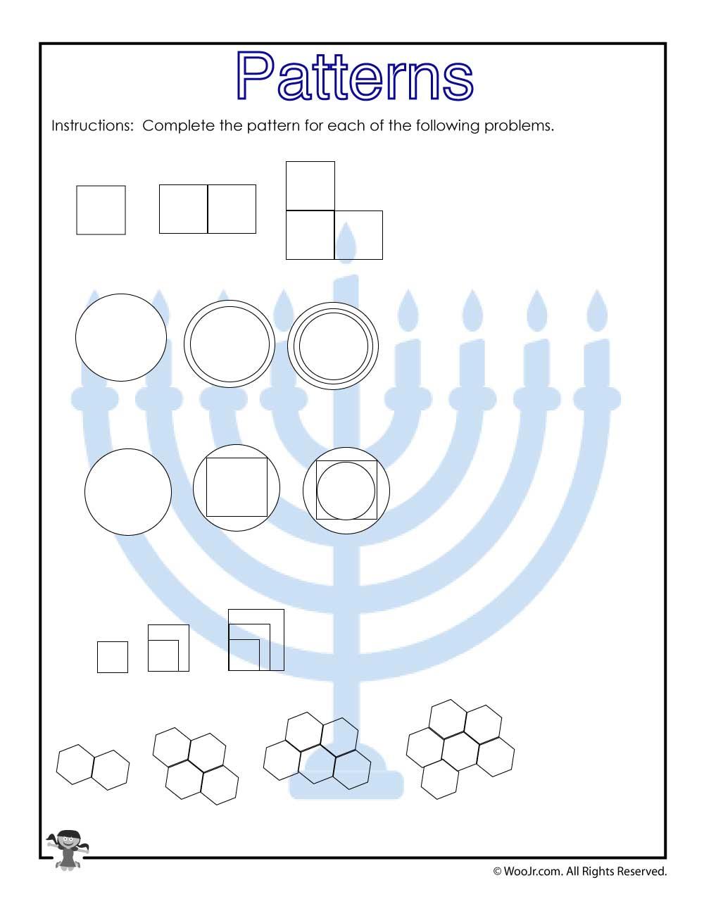 visual pattern prediction worksheet for 3rd grade woo. Black Bedroom Furniture Sets. Home Design Ideas