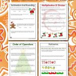 3rd Grade Mid Year Review Math Worksheets for Christmas