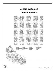 Arctic Tribes Vocabulary Word Search
