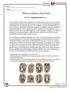 What is Chinese New Year Reading